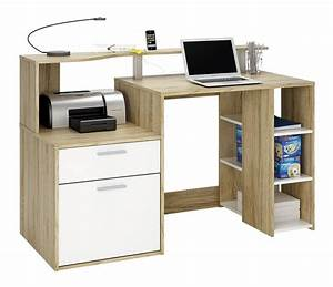 Bureau 140 Cm : bureau oracle b 140 cm eikdecor wit collishop ~ Teatrodelosmanantiales.com Idées de Décoration