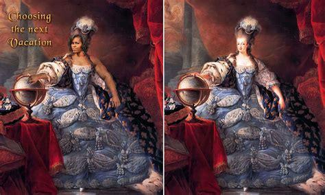 cartoon comparing michelle obama  marie antoinette
