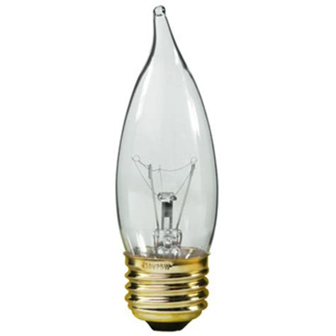 satco a3666 60 watt clear chandelier bulb