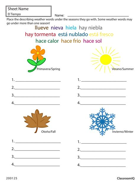 weather in worksheets worksheets for all