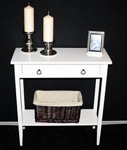 Beistelltisch Weiß Vintage : massivholz konsolentisch wandtisch beistelltisch telefontisch holz massiv wei ~ Yasmunasinghe.com Haus und Dekorationen