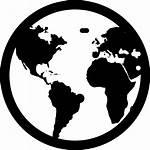 Globe Earth Icon Svg Clipart Transparent Silhouette
