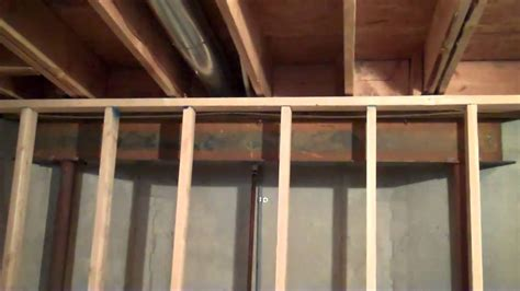 Ceiling Joist Spacing For Drywall by Gap Between Basement Wall And Ceiling Joist Mp4