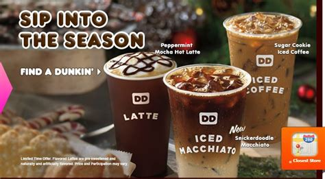 Dunkin Donuts Releases Holiday Flavors Peppermint Mocha Bob Marley Coffee Machine Gluten Free Iced Make At Home Maker Single Reviews Merchandise Valor Table Book