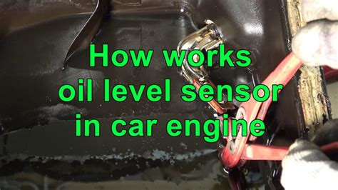 how does a cars engine work 1996 chevrolet s10 security system how works oil level sensor in car engine youtube