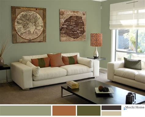 sage green  brown living room zion modern house