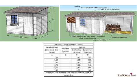 Plan Abri De Jardin 1 Pente by Mod 232 Le Bristol Abri De Jardin Toit Une Pente Cedar