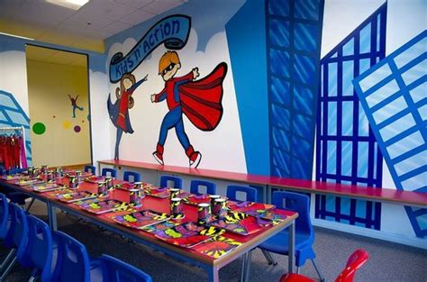 Superhero Party Room At Kids'n'action  Picture Of Kidsn