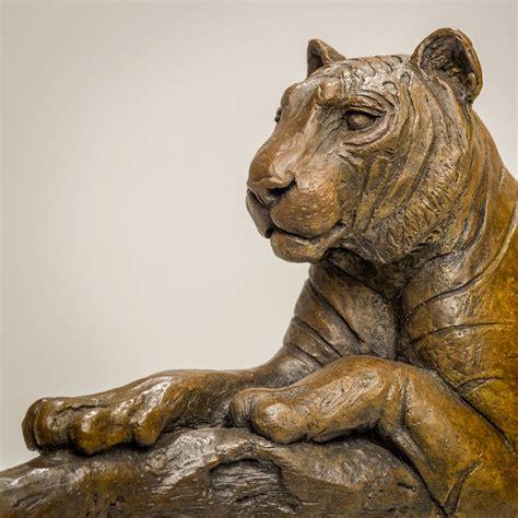 Bronze Tiger Sculpture £7995 - Nick Mackman Animal Sculpture