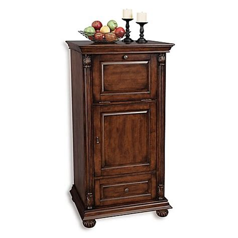 miller bathroom cabinets howard miller cognac wine bar cabinet in hton cherry 23336