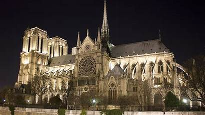 Dame Notre Fire Cathedral Paris Before France