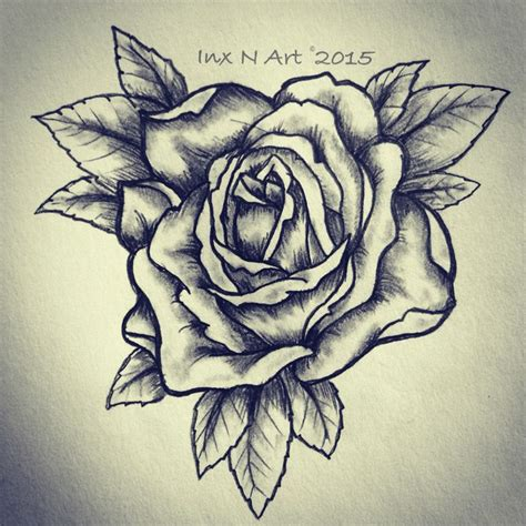 Rose Tattoo Sketch  Drawing By  Ranz Pinterest