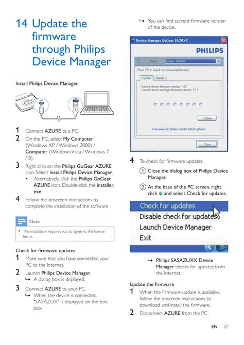 update  firmware  philips device manager