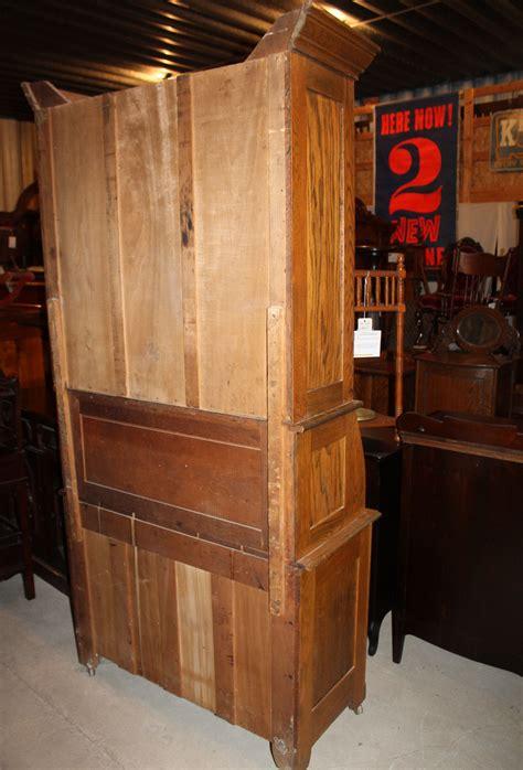 bargain johns antiques antique oak drop front secretary