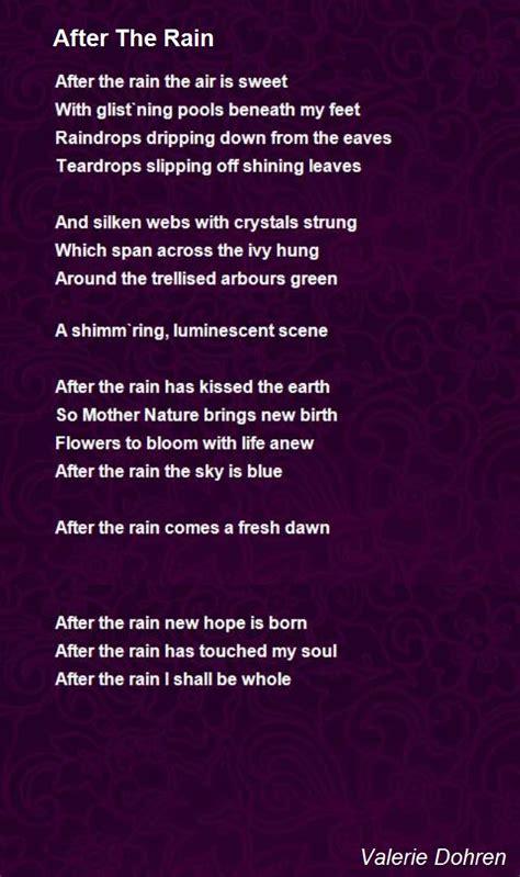 rain poem  valerie dohren poem hunter