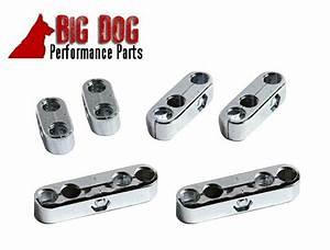 8mm 9mm Chrome Spark Plug Wire Separators Dividers Looms Fits Chevy Ford  U0026 Mopar
