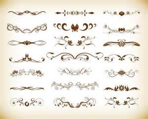 designer vintage vintage element decoration vector graphics set free vector graphics all free web resources