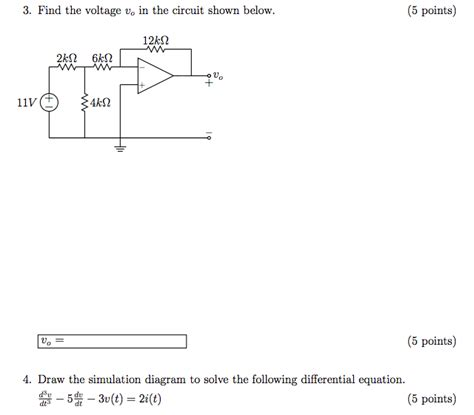 Solved Find The Voltage Circuit Shown Below
