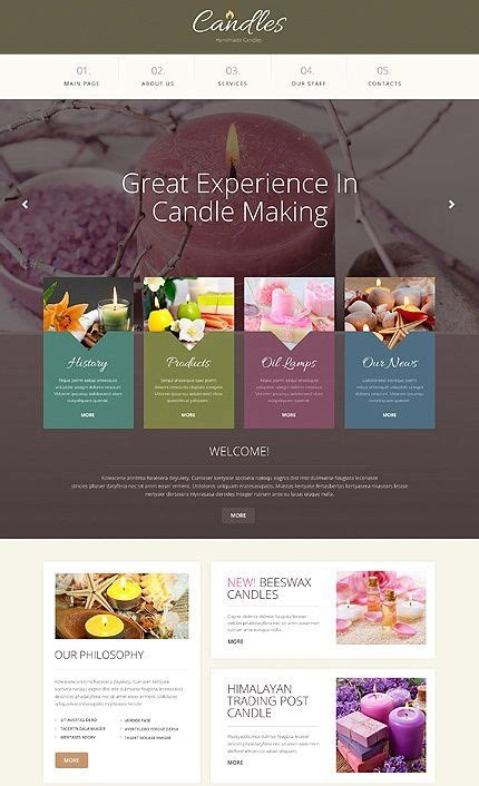 template  handmade candles responsive bootstrap
