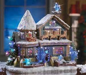 holiday lighted christmas village house toys santa reindeer figurine expedited ebay