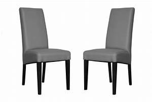 Lot De Chaise Pas Cher : lot de 2 chaises adria gris design pas cher sur sofactory ~ Teatrodelosmanantiales.com Idées de Décoration