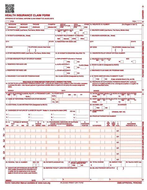Free Cms 1500 Claim Form Template by Pet Plan Claim Form Address Form Resume Exles