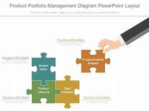 Product Portfolio Management Diagram Powerpoint Layout