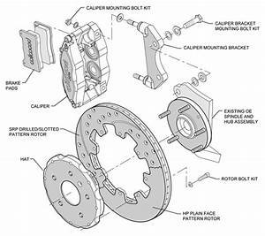 Wilwood Disc Brake Kit Fits Subaru Impreza Wrx Forester Legacy Saab 12 U0026quot  Black Dr