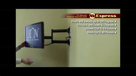 swivel lcd tv wall mount bracket av express review youtube