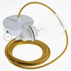 Cable Pour Suspension : lampe suspension pour abat jour c ble textile coton miel dor rc31 ~ Teatrodelosmanantiales.com Idées de Décoration