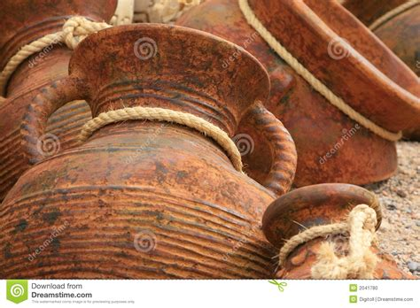 pottery background  rope ties stock photo image