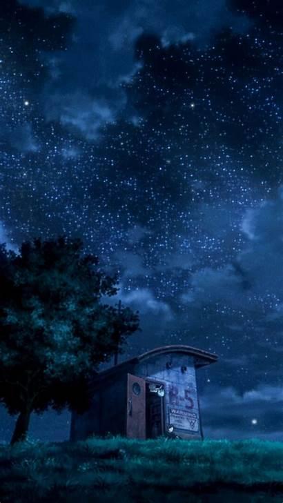 Anime Scenery Iphone Dark Background Night Phone