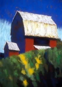 Abstract Paintings Red Barn