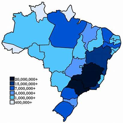 Brazil Population Map Density Brazilian States Choropleth
