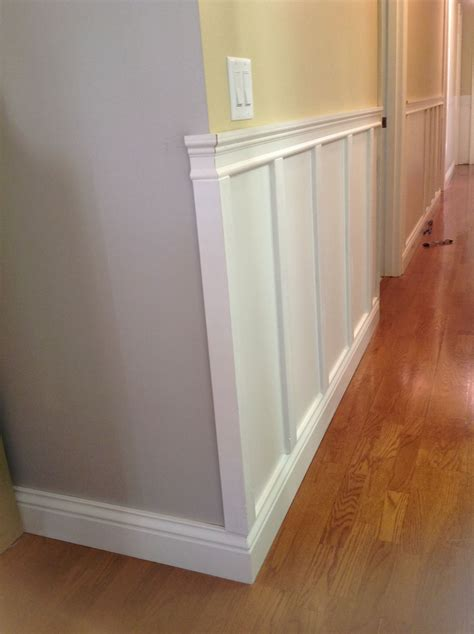 New Wainscoting by Wainscoting Hallway To Garage Painted For The