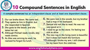 10 Compound Sentences In English