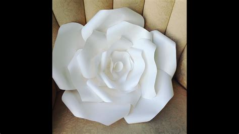 diy large paper rose flower youtube