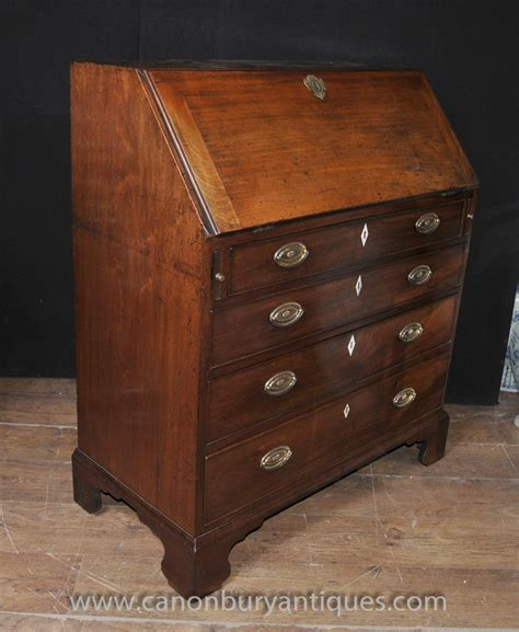 ebay bureau antique mahogany georgian bureau desk chest drawers