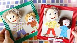 Bricolage Fête Des Pères Maternelle : bricolage f te des p res cadre papa et moi en pompons ~ Melissatoandfro.com Idées de Décoration