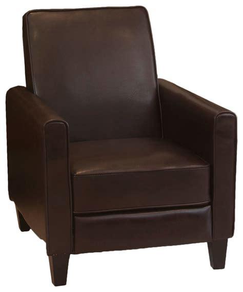 lucas modern design recliner club chair brown