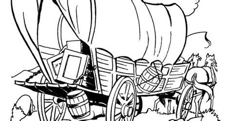 kid coloring pages  prairie schooners westwardho pioneers westward hooooo pinterest