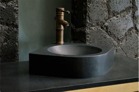mm  black granite wash hand basin sink samoa shadow