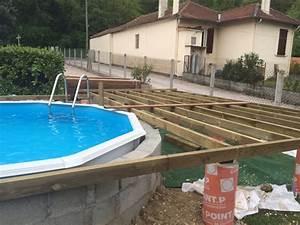 bien terrasse en bois autour d une piscine hors sol 5 With terrasse en bois autour d une piscine hors sol