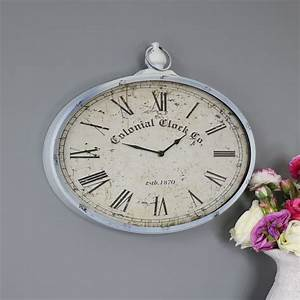 Vintage, Oval, Pocket, Watch, Style, Wall, Clock