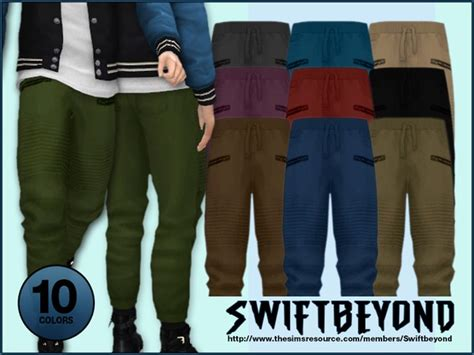 Jogger Pants By Swiftbeyond At Tsr » Sims 4 Updates