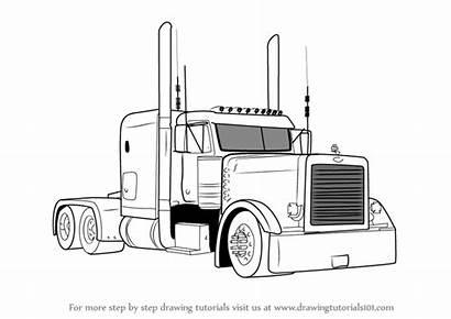 Peterbilt Truck Drawing 379 Draw Semi Trucks