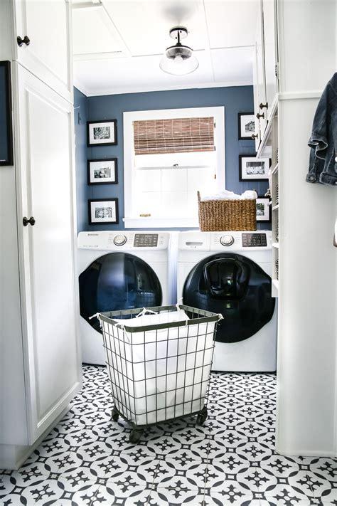 High Contrast Laundry Room Makeover Reveal  Bless'er House