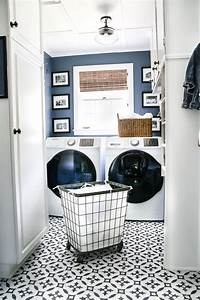 laundry room makeovers High Contrast Laundry Room Makeover Reveal - Bless'er House