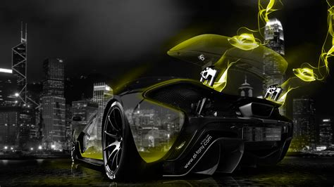mclaren p crystal city super energy car  wallpapers