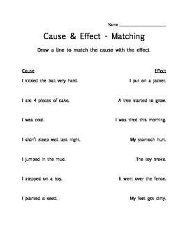 cause effect practice 3 printable worksheets